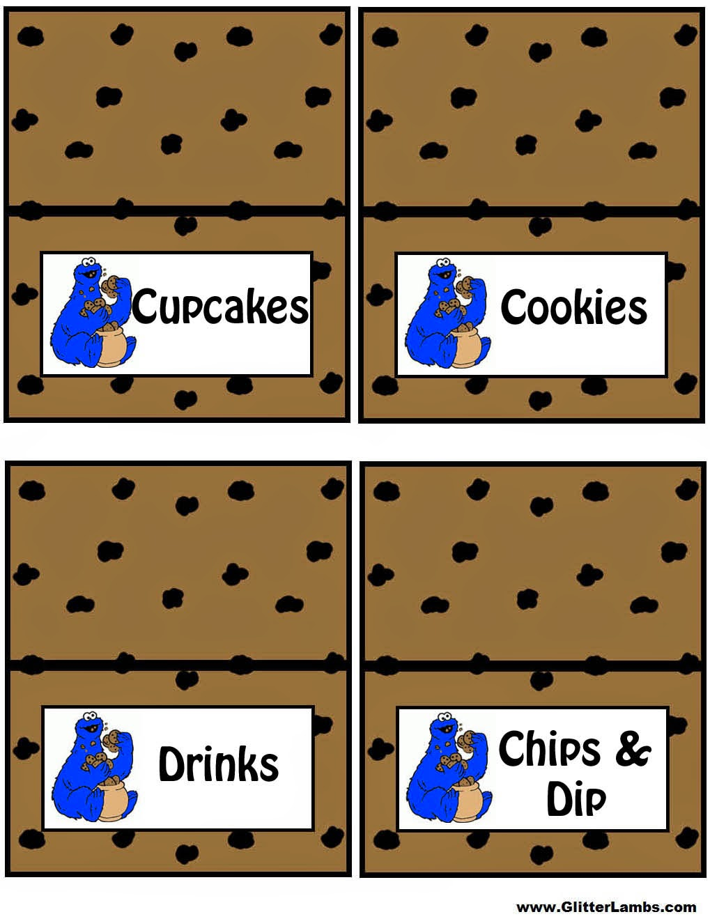 Cookie Monster Birthday Party Printables