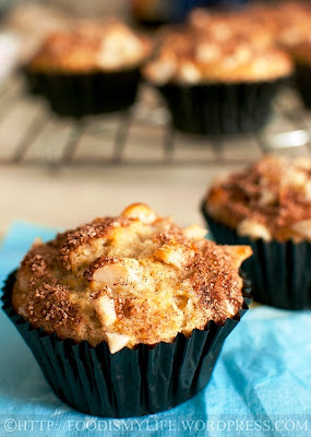 Banana, Macadamia, Coconut and Cinnamon Muffins
