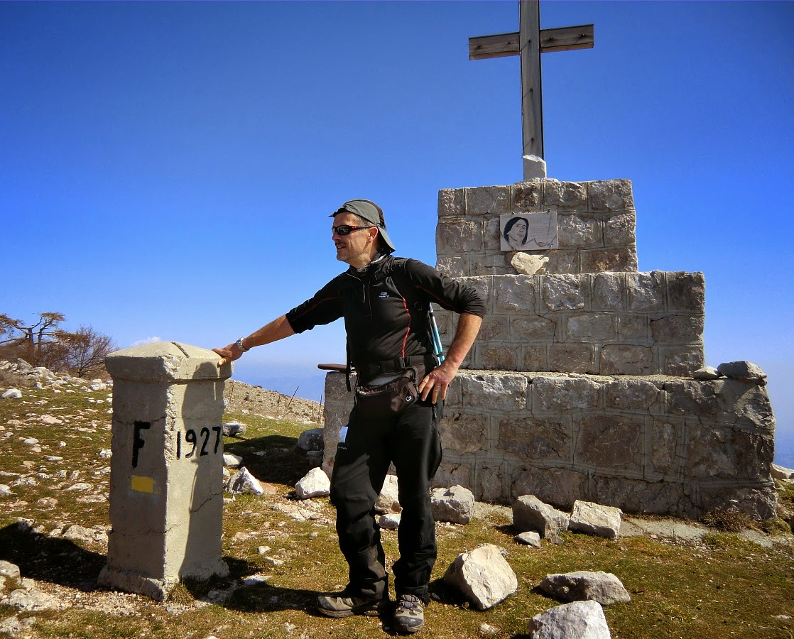 The summit of Le Grand Mont on the Italian border