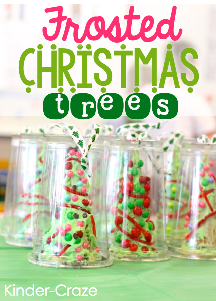 Frosted Christmas Trees… MUST remember this idea next Christmas!