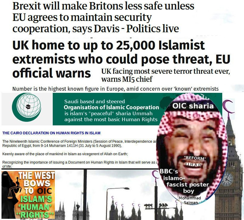 UK's sharia ties to Saudi islamofascism threaten EU (and UK) security