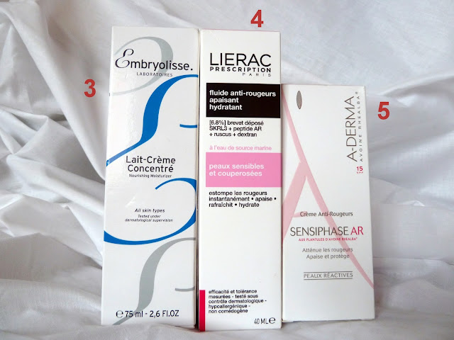 french creams embryolisse lierac a-derma