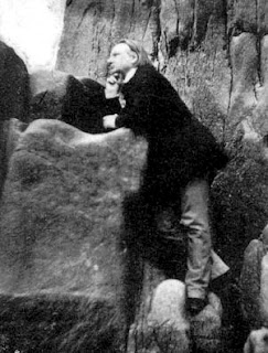 Victor Hugo Among the Rocks on Jersey (1853-55), par Charles Hugo