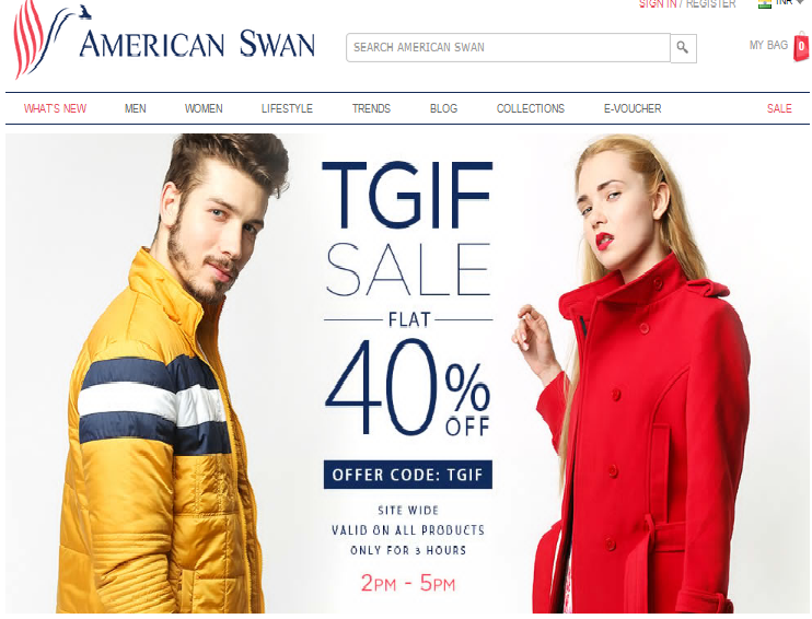 Americanswan.com review, American swan online shopping website review, Online shopping websites in India, Online shopping India, Best online shopping website for men's clothing, shoe and accessories, Best shopping website for womean casual wear, tops, dresses and bottoms, Fashion clothing shopping online, Buy jackets online, Awesome Discounts and deals on clothing on Americanswan.com, Indian fashion blogger, Indian makeup and beauty blog, Milliondollarlooks makeup and beauty blog
