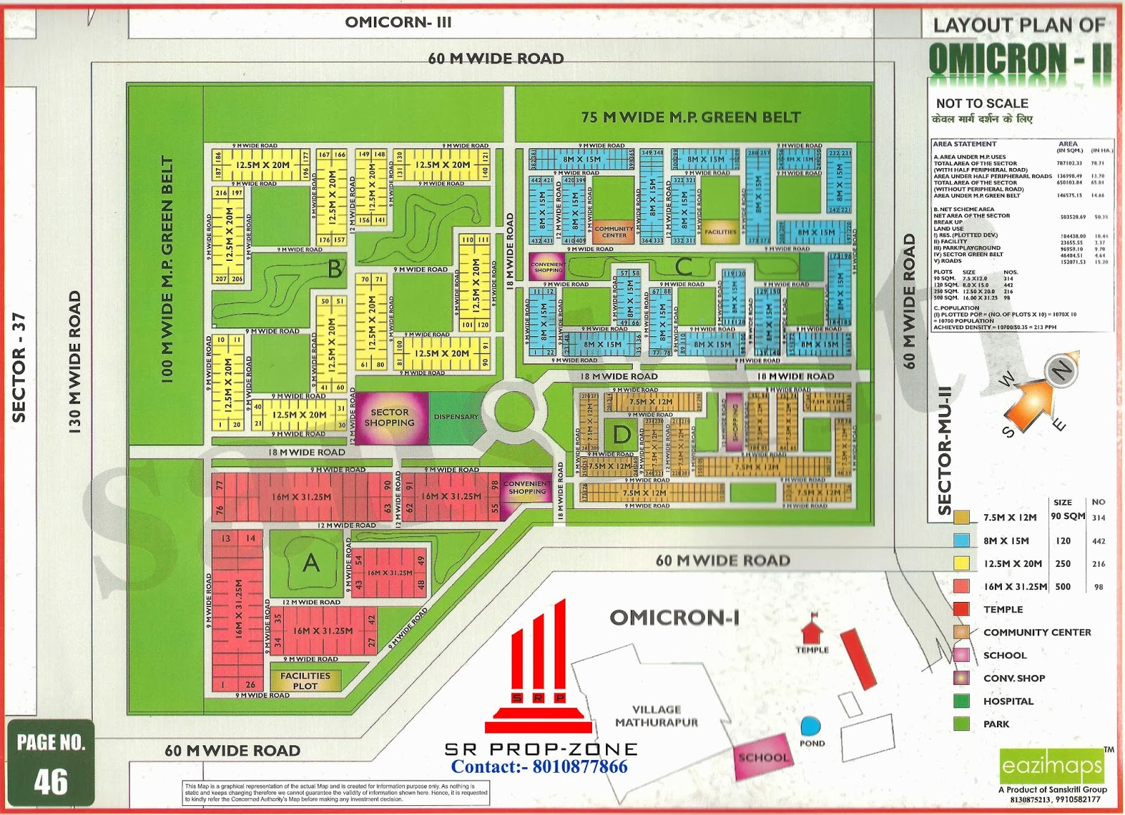 Layout Plan Of Omicron 2 Greater Noida Hd Map