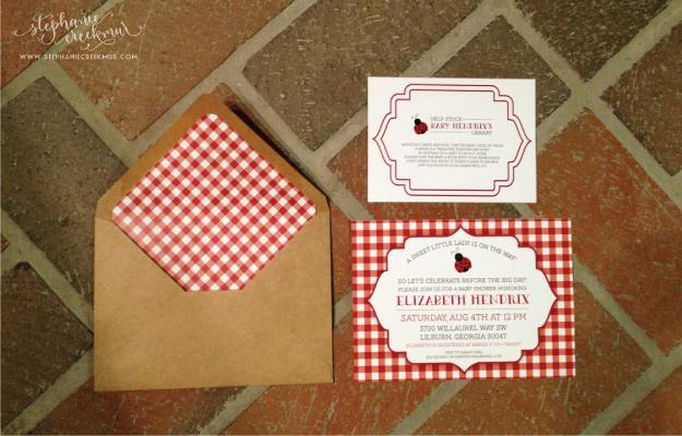 in the studio | country ladybug baby shower - stephanie creekmur, Baby shower invitations