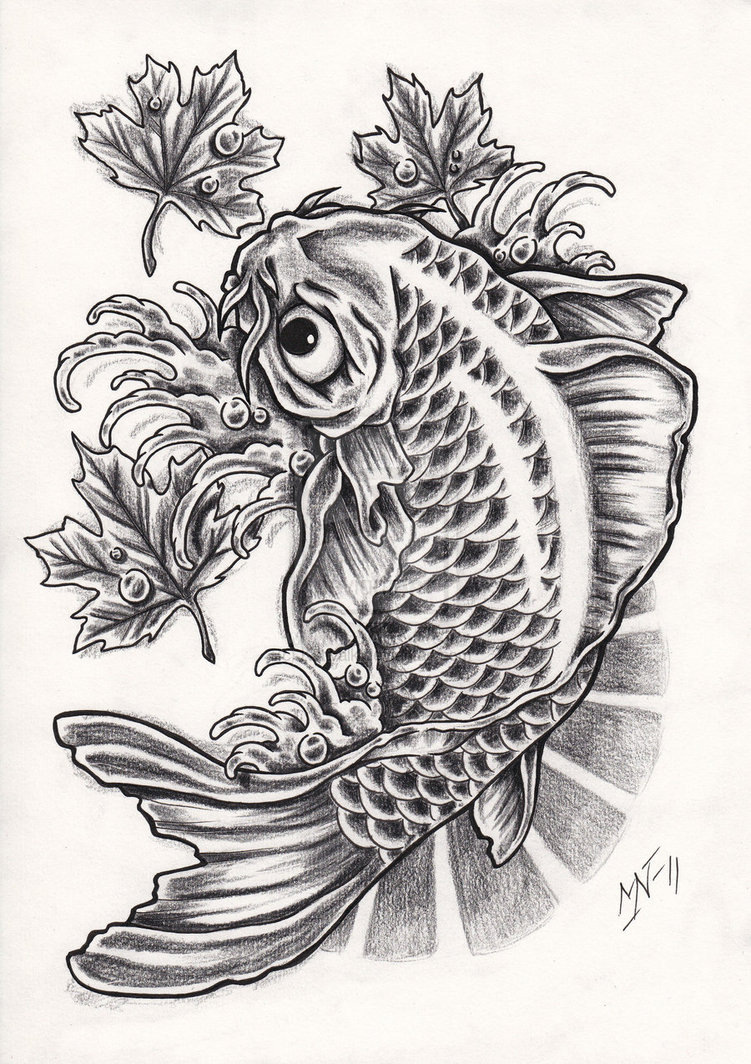 Koi tattoo designs for Koi fish designs