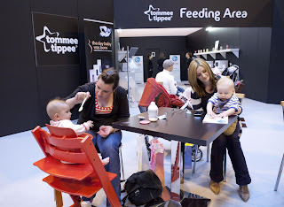 Feeding area at the Baby Show