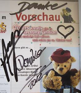 Signierte Teddys Zeitschrift