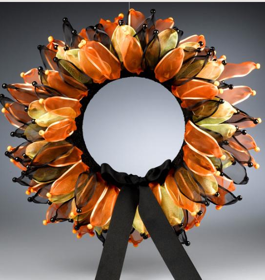 Halloween Ribbon Wreath Artisticdivasworld