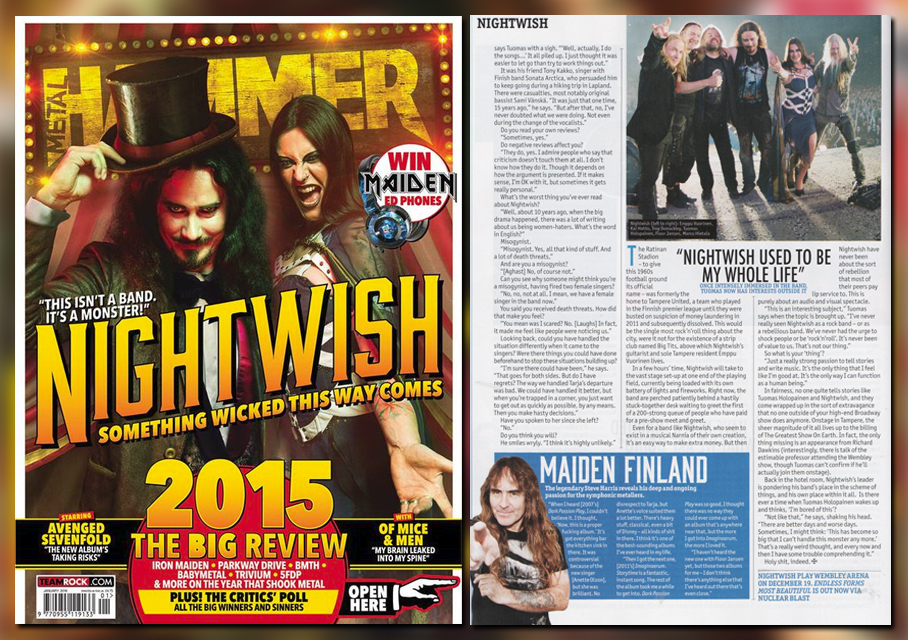 Steve Harris se vuelve a declarar fan de Nightwish Nightwish_metalhammer