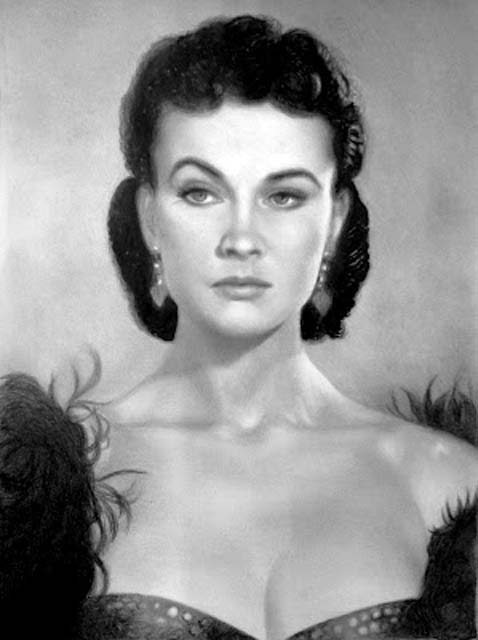 Vivian Leigh - Graffiti portrait