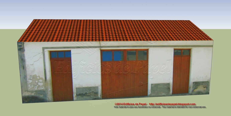 Maqueta de papel de una casa de pueblo