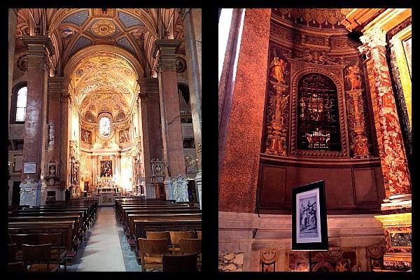 Wnętrze kościoła S. Maria dell'Anima w Rzymie
