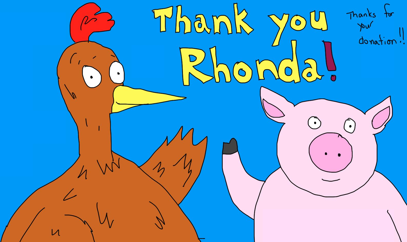 Image result for thank you rhonda