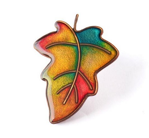 Wire and Polymer Clay Leaf Brooch Tutorial ~ The Beading Gem\'s Journal