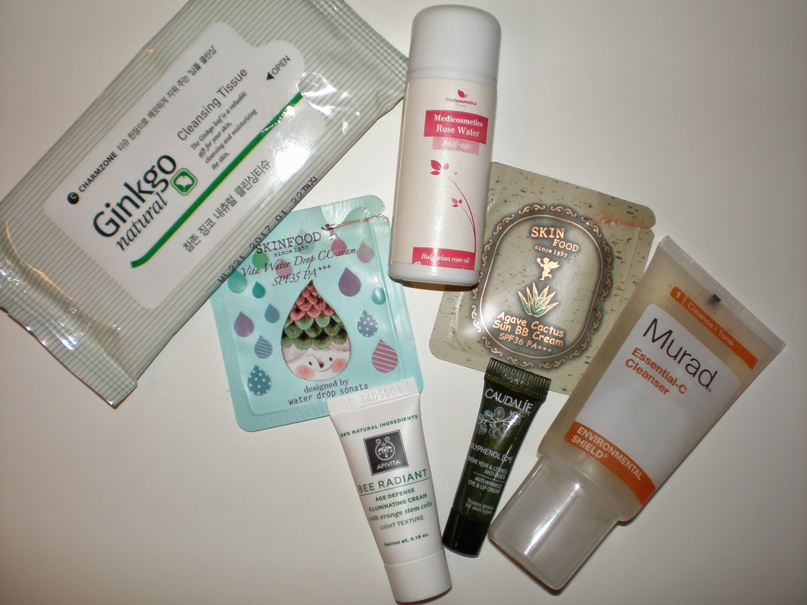 Beauty samples I used up in my trip to Galaxidi