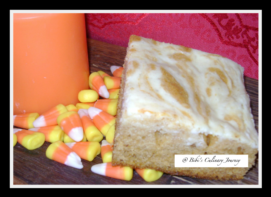 Pumpkin Cake With Cream Cheese Swirl Recipe — Dishmaps
