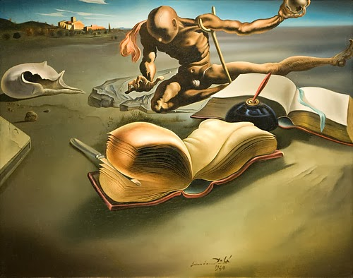 dali-book transforming itself into a woman