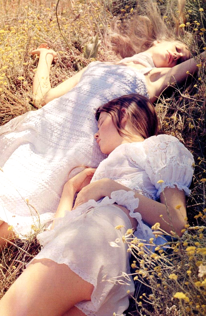 Behati Prinsloo & Romina Lanaro in Heavenly Creatures editorial, Vogue UK March 2006  (photography: Benjamin Alexander Huseby)