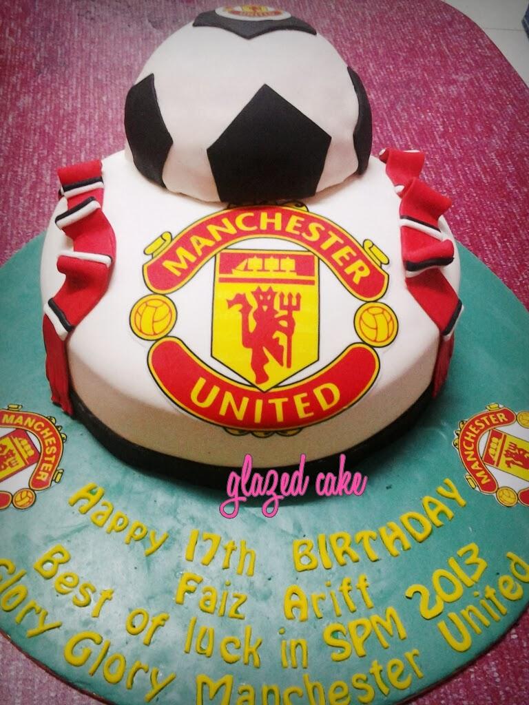 Glazedcakespot Manchester United Birthday Cake For Faiz