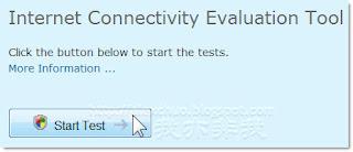 執行「網際網路連線評估工具」