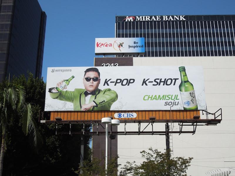 Psy Chamisul Soju billboard