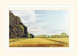 View to the Cleveland Hills greeting card
