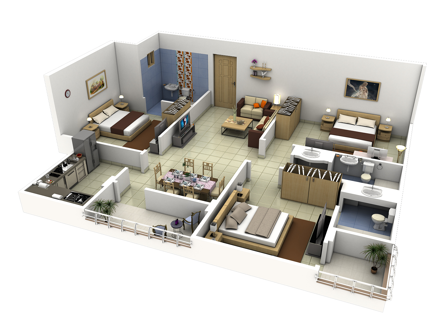 Tech n gen 3d modules for Apartment design plans 3d