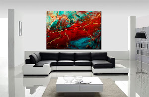 "Abstract Painting ""Ecstatic"" by Dora Woodrum"