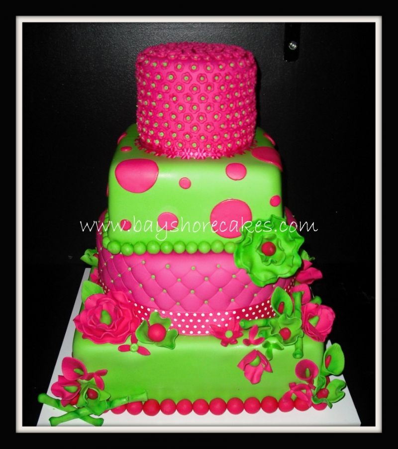Excellent Hot Pink and Green Wedding Cake 800 x 903 · 403 kB · jpeg