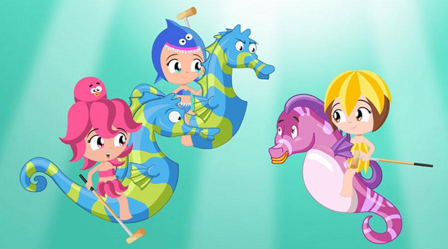 Princesas del Mar, Discovery Kids, Pulpina, Ester, Tiburina, Julia, Jessi, Tatam Vivi,