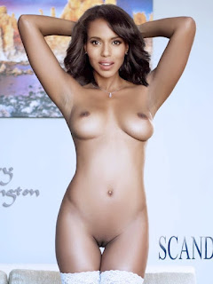 Naked Kerry Washington Tits N Pussy Exposed