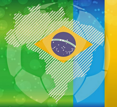 Vector Brazil World Cup Background