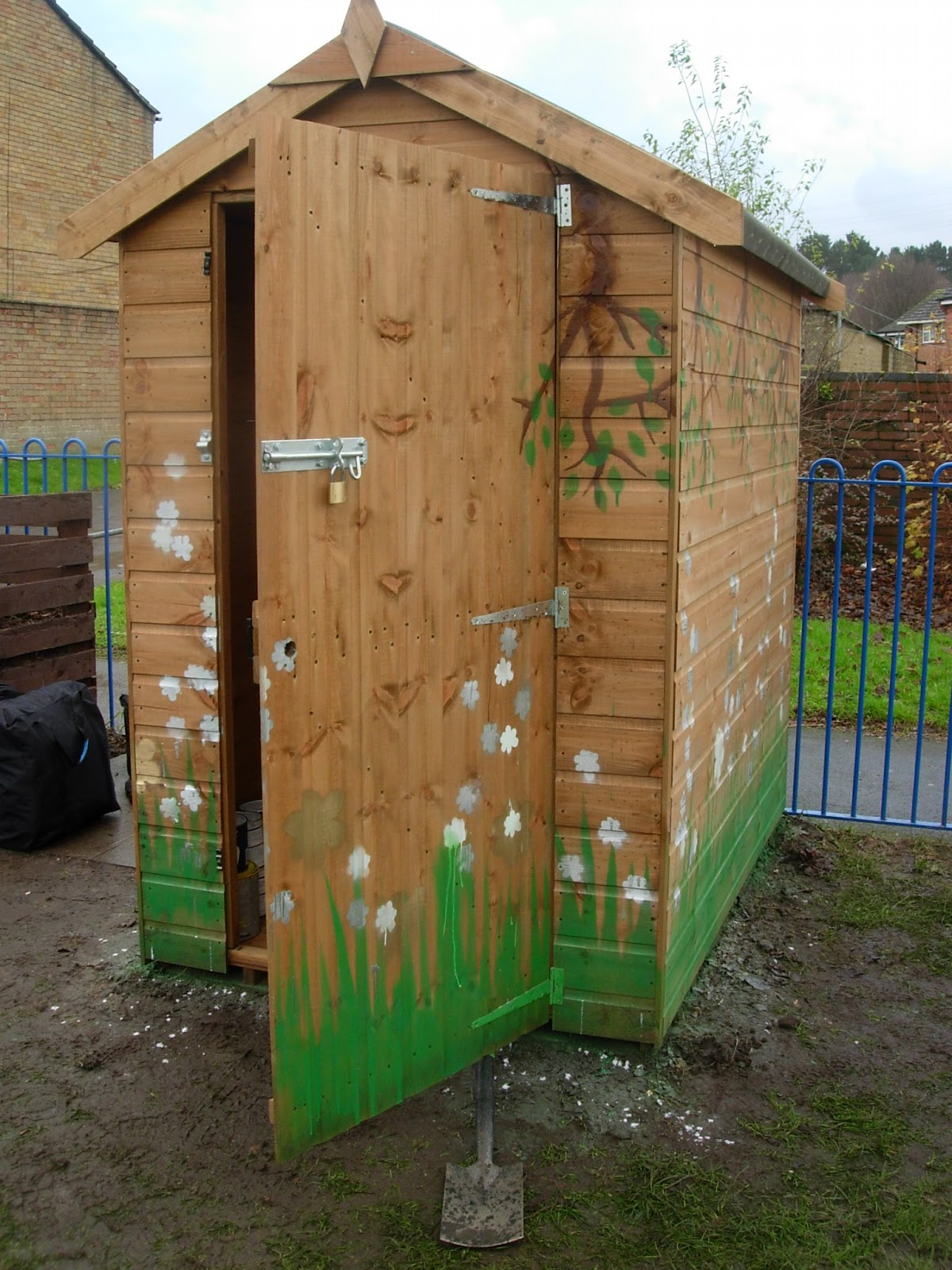 Turlin Moore Community Garden Shed Painting Rose Perry Arts