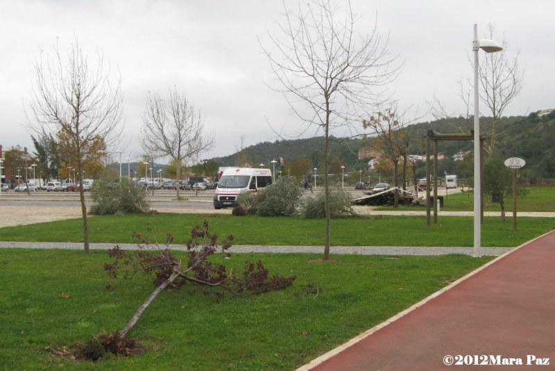 Silves, parque ribeirinho depois do tornado