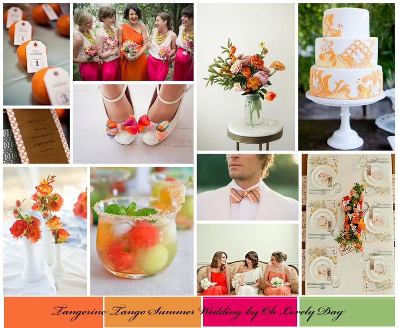 {Inspiration Board} Tangerine Tango Summer Wedding - Oh ... Tangerine Tango Wedding