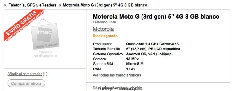 Motorola Moto G (2015) 3rd gen leaked online