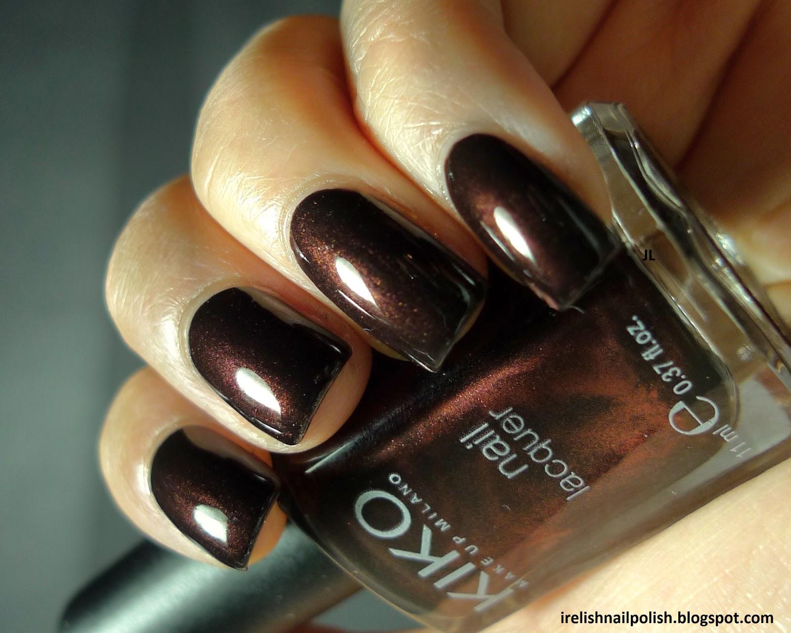 I Relish Nail Polish!: Kiko - 374 - Dark Brown Shimmer