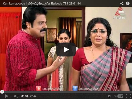 Episode Asia Malayalam Mega Serial Kumkumapoovu Last