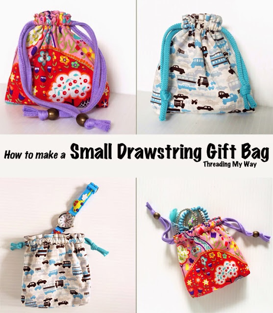 Sewing Tutorial for Drawstring bags