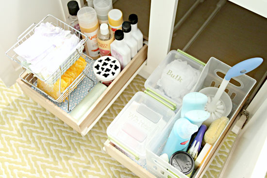 IHeart Organizing: Monthly Organizing Challenge: Organizing Under The  Bathroom Sink Part 53
