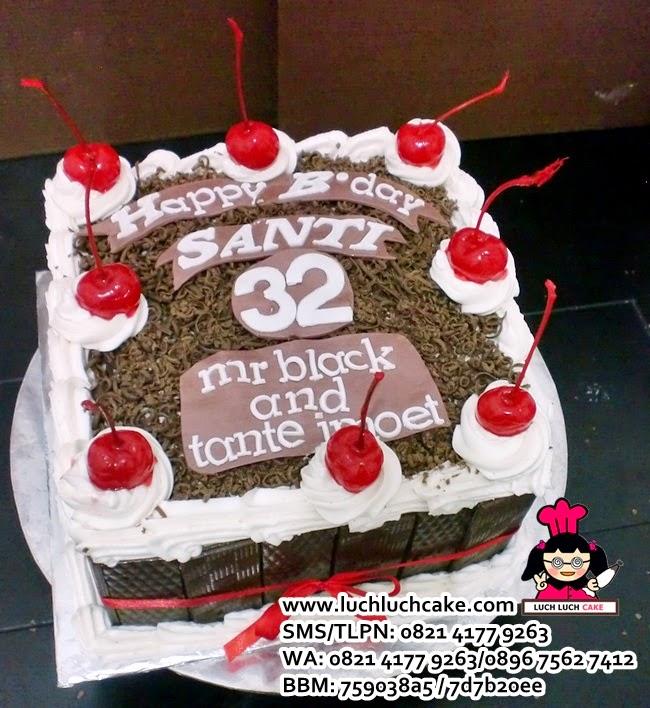 Blackforest Birthday Tart Daerah Surabaya - Sidoarjo