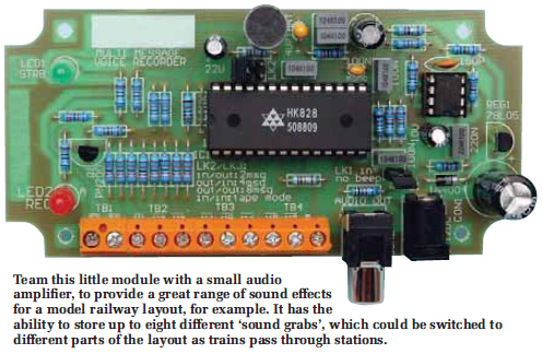 electronic 4y 45 second voice recorder moduleto check that your recorder is working correctly, first decide which message mode you want to use it in, and then place jumper shunts on link headers lk1,