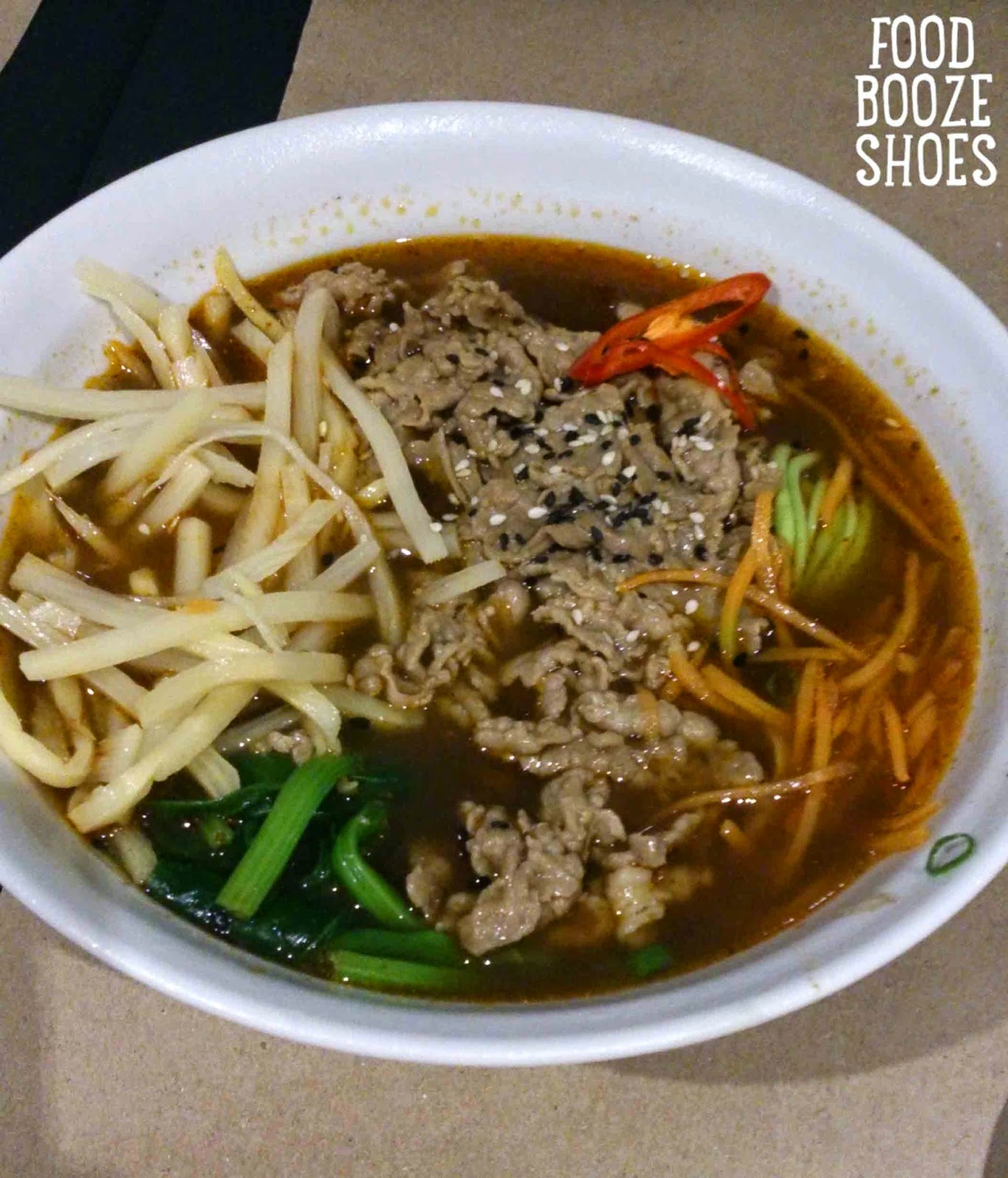 Food, booze and shoes: Noodle your way to dinner at Chefs Gallery ...