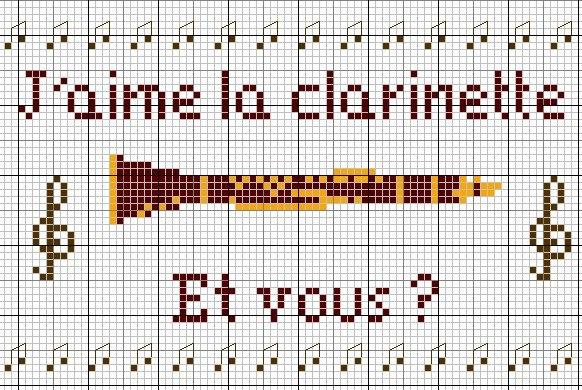 Музыкальные инструменты схемы для вышивки