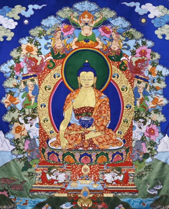 Silk Thangka by Leslie Rinchen Wongmo