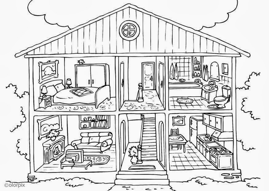 pioneer log cabin coloring pages - photo#11
