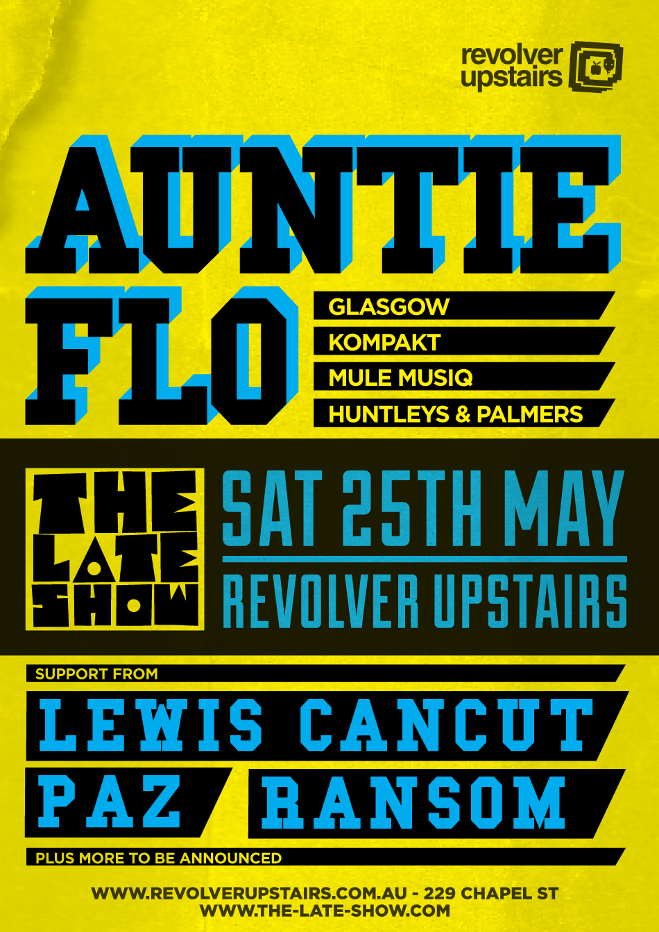  AUNTIE FLO - SAT 25TH MAY