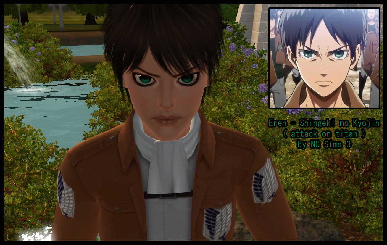 Sims 3 Anime Characters : Ng sims eren shingeki no kyojin attack on titan